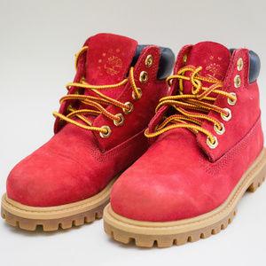 Dark Red TImberland Boot